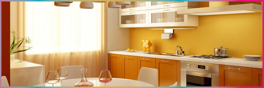 Mejores colores para pintar una cocina comedor - Pintura pared cocina ...