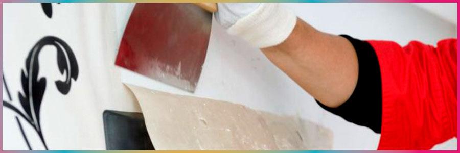 Quitar papel pintado con nuestros pintores en madrid for Quitar papel pintado